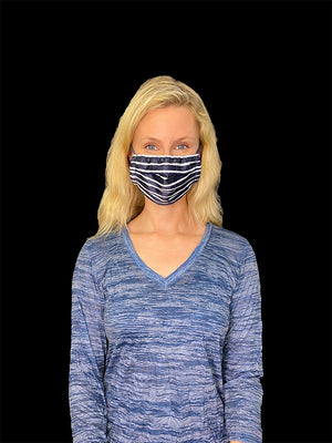 Navy Stripes Face Mask