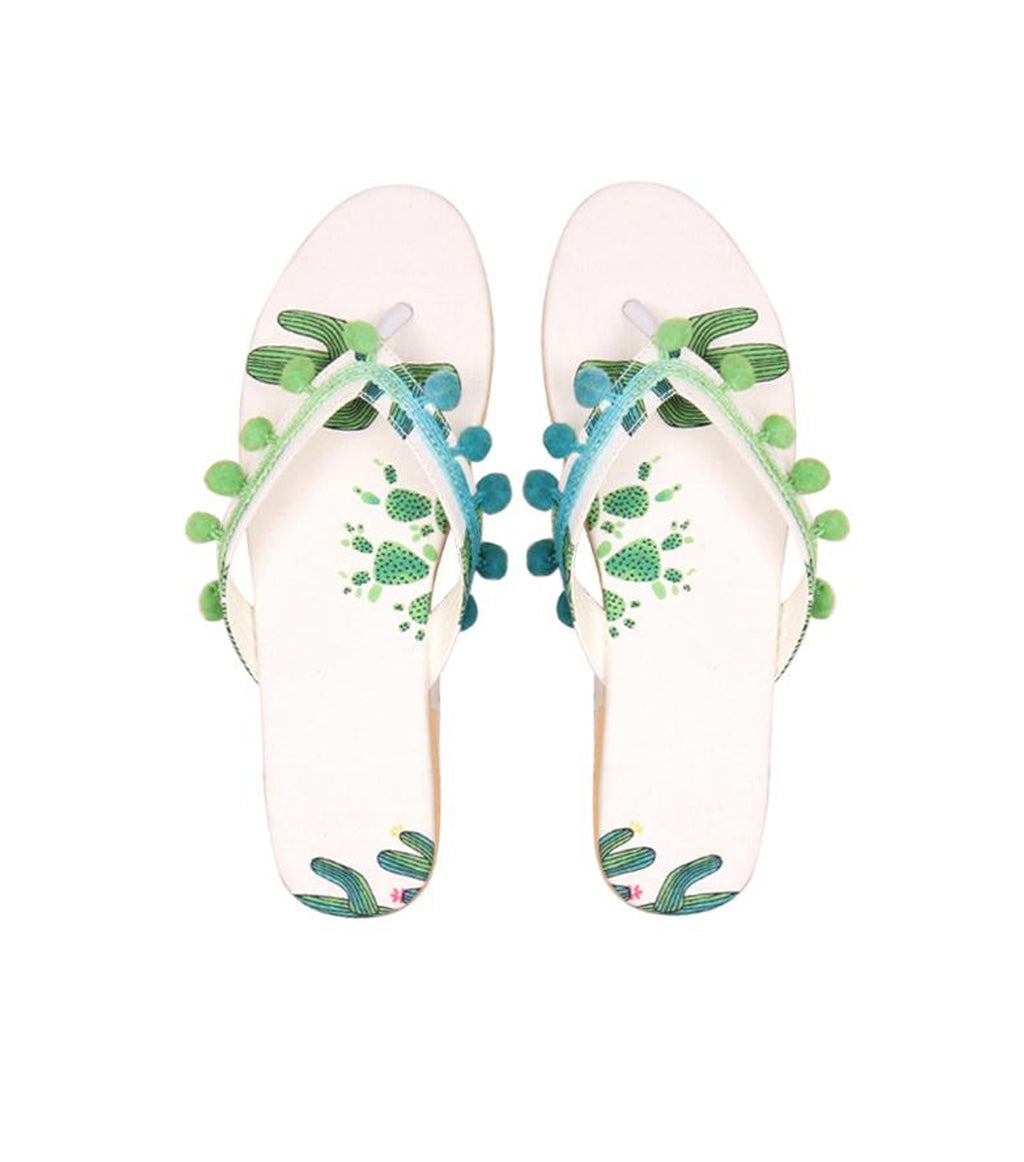 Cloud Dancer Pom Pom Beach flipflop