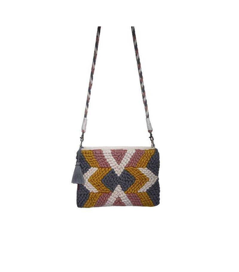 Diamond Pattern Cross Body Bag