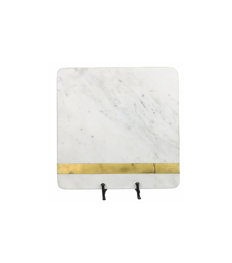 Square Marble/Brass Cutting Board