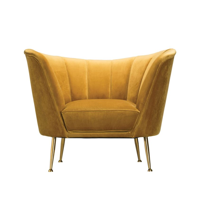 Goldfinch Velvet Armchair