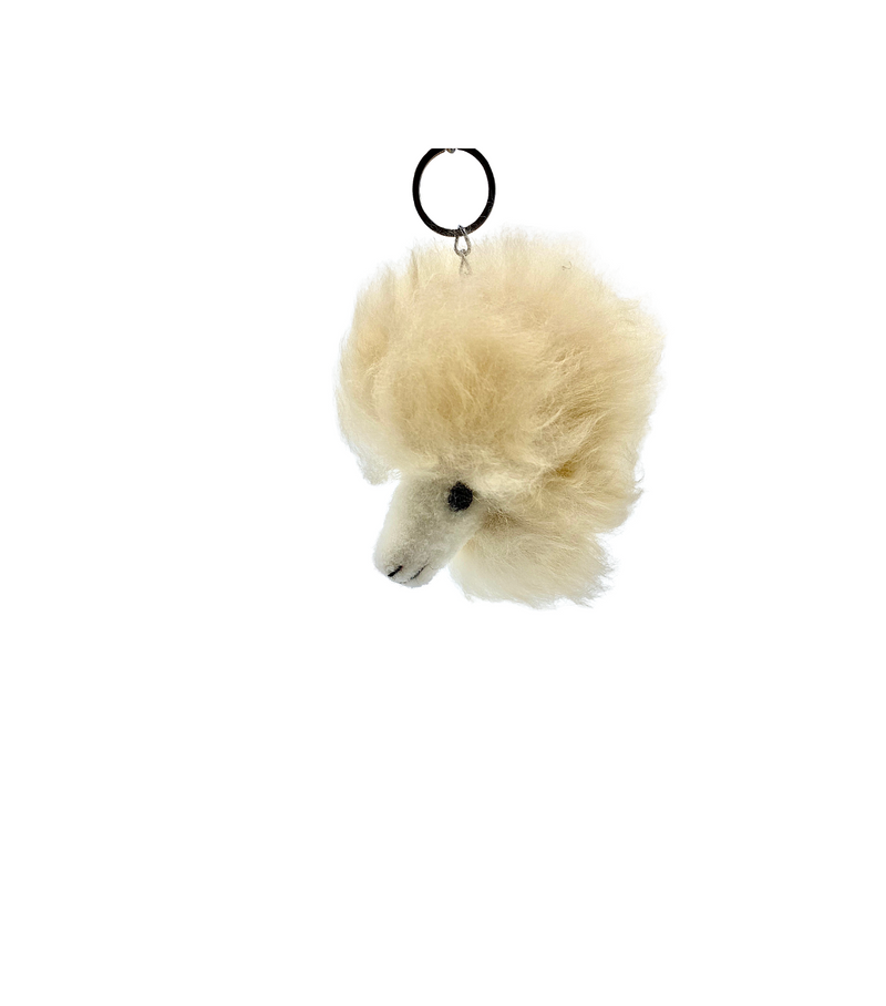 Happy Alpaca Keychain