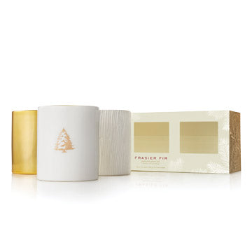 Frasier Fir Gilded Candle Trio Set