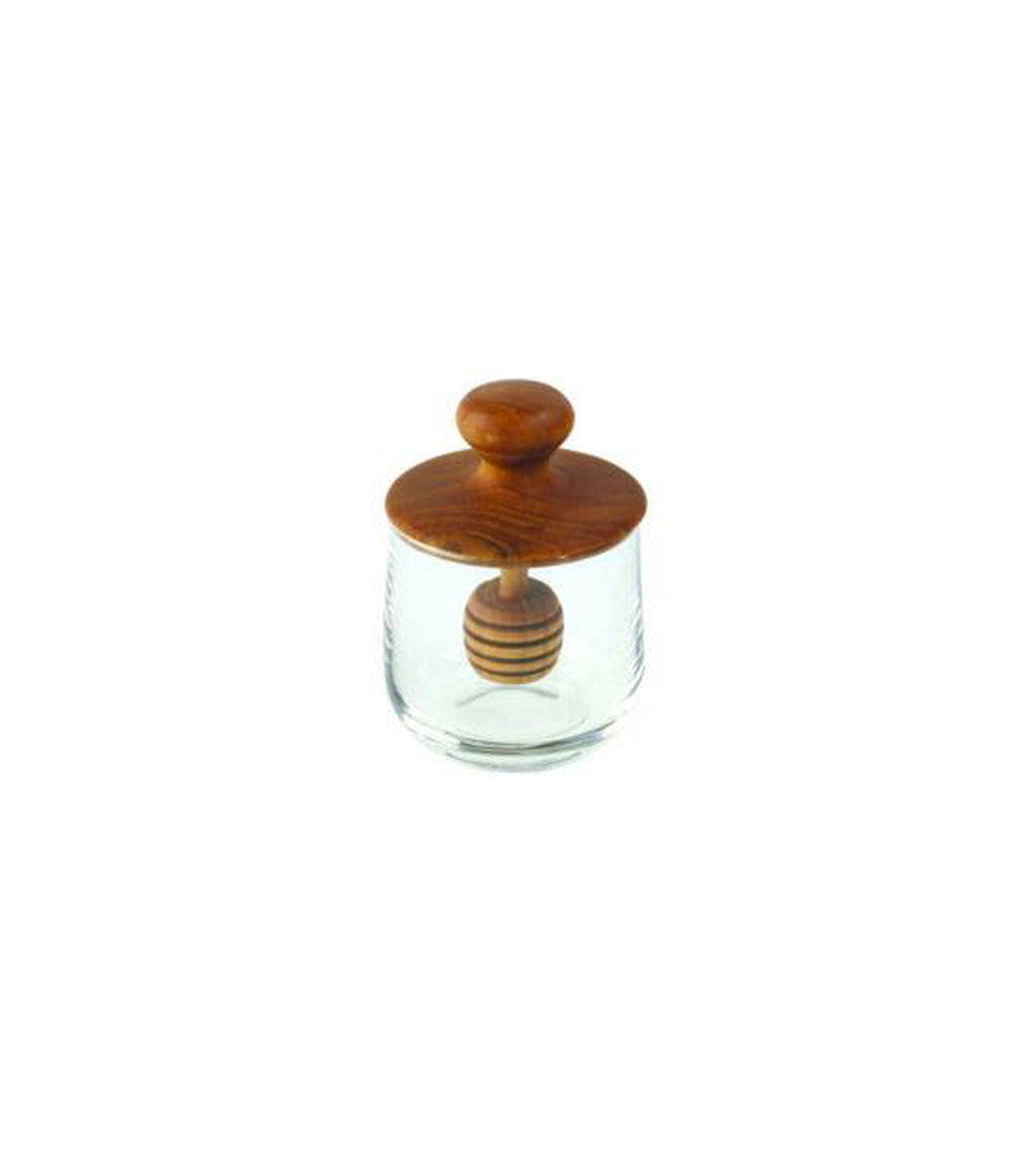 Teak Mini Honey Jar