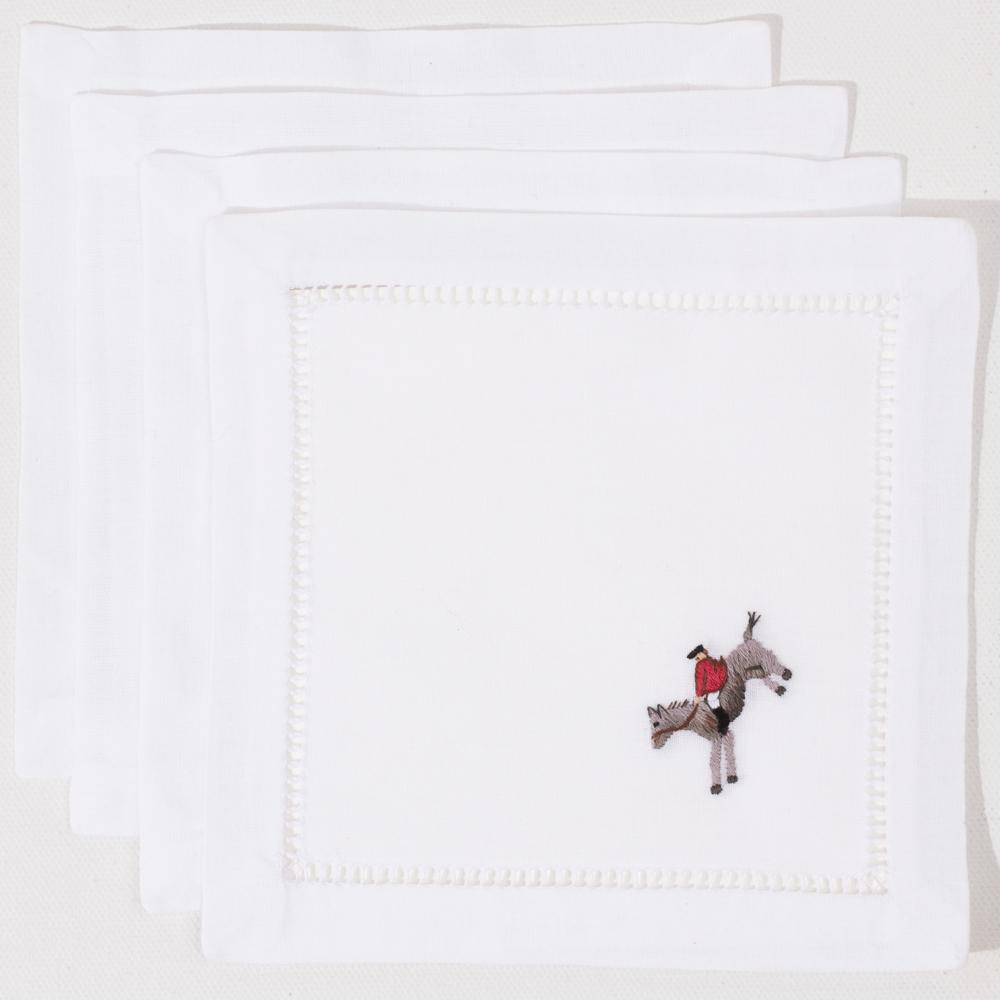 Hunt Scene Cocktail Napkins