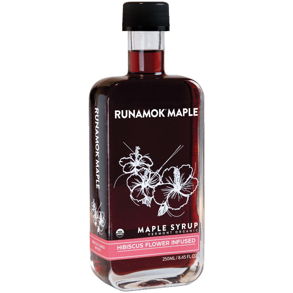 Hibiscus Infused Maple Syrup