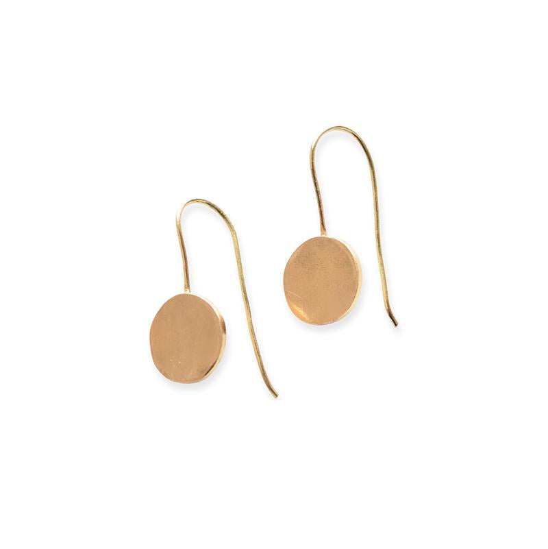 Brass Dot Earrings