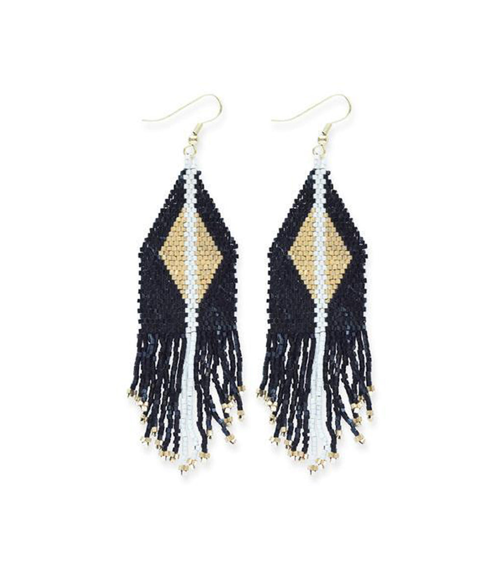 Black Diamond Luxe Fringe Earring