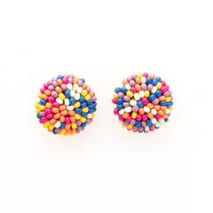 Confetti Button Earrings