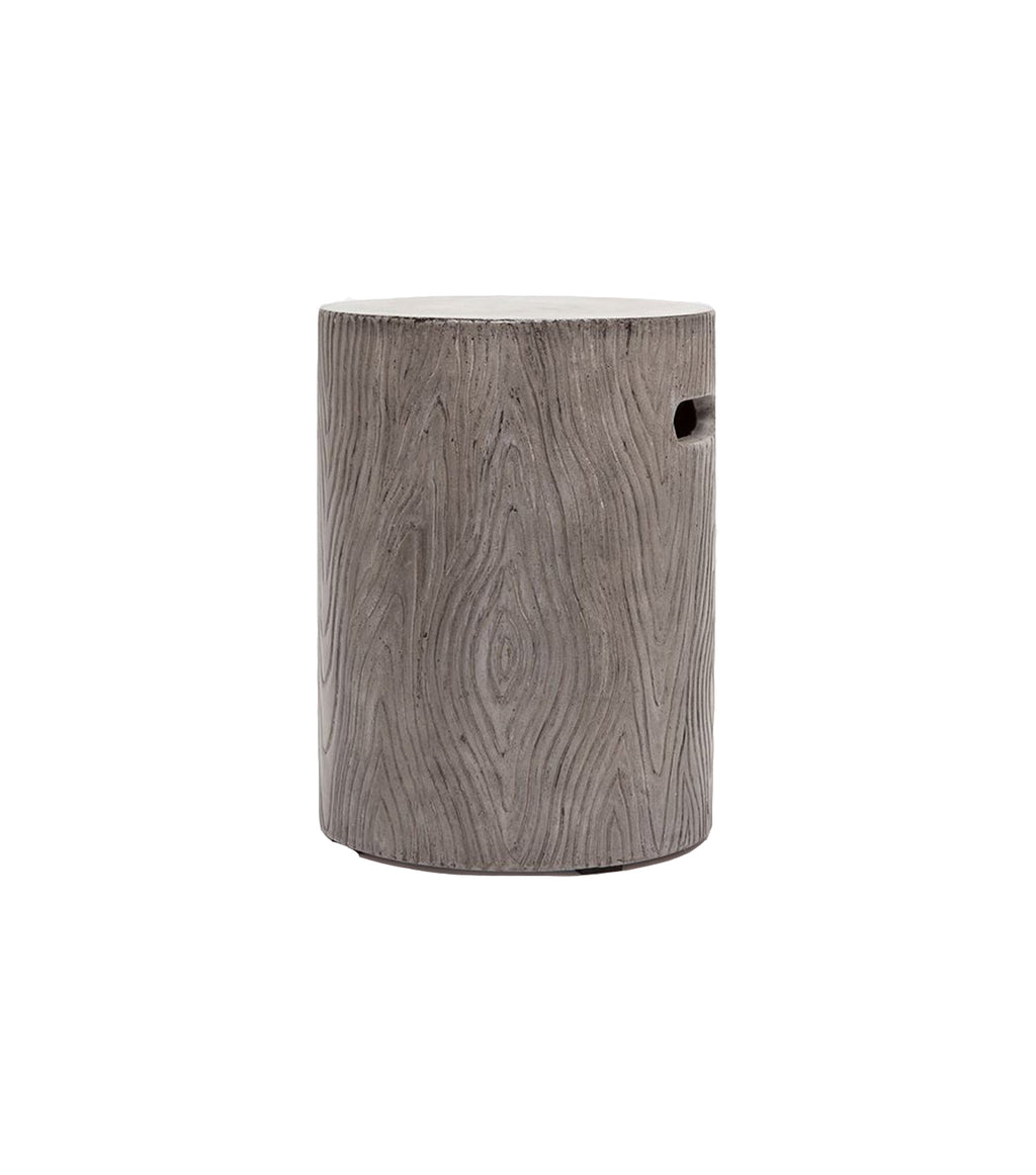 Faux Bois Outdoor Stool
