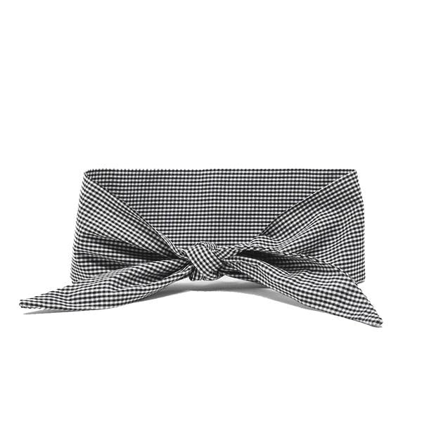 Black Gingham Pet Necktie