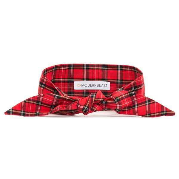 Red Plaid Pet Necktie