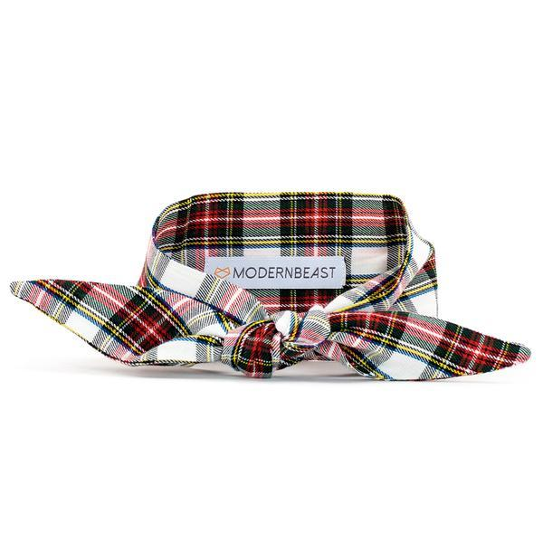 Vintage Plaid Pet Necktie