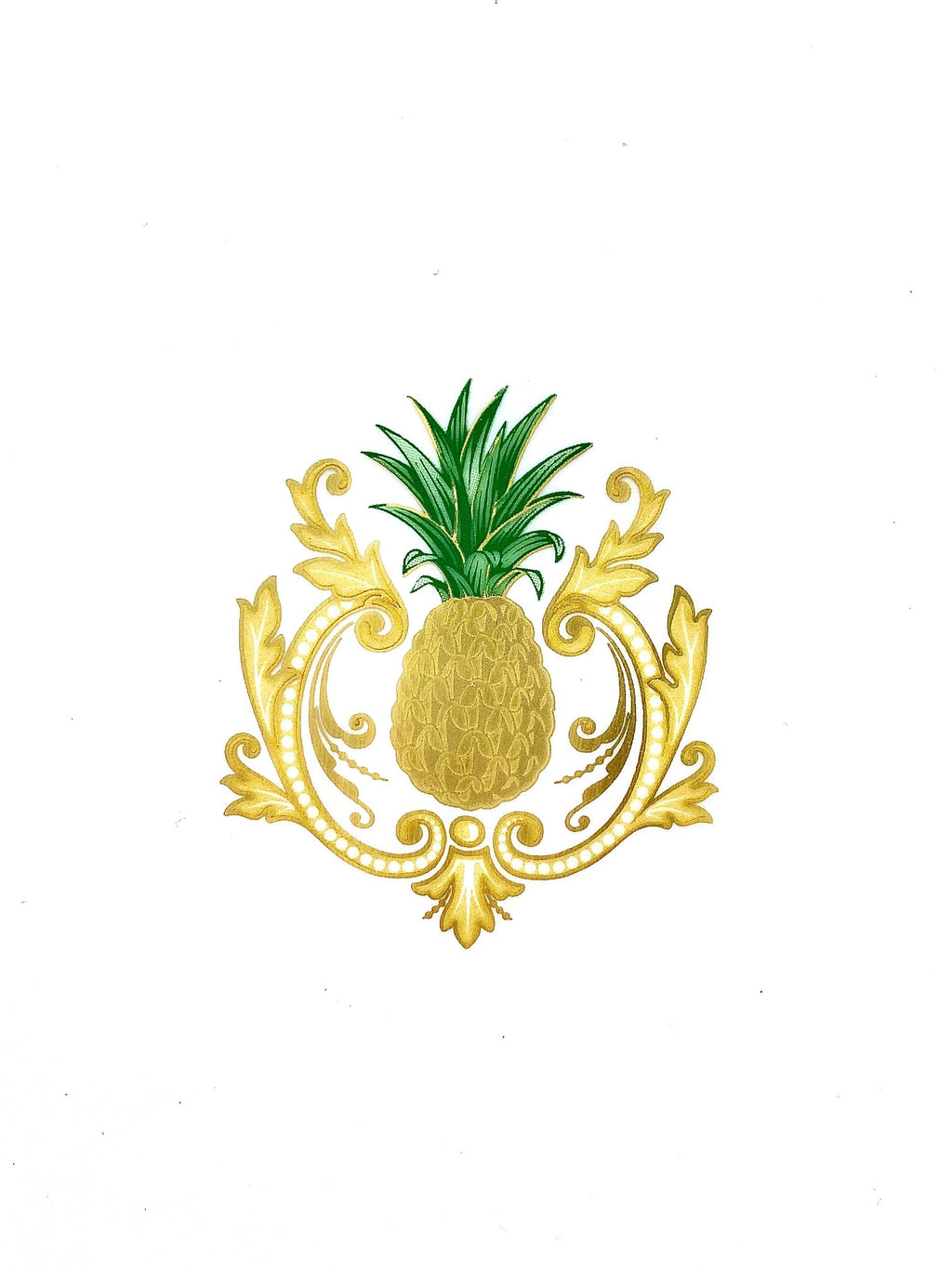 Pineapple Porcelain Square Tray