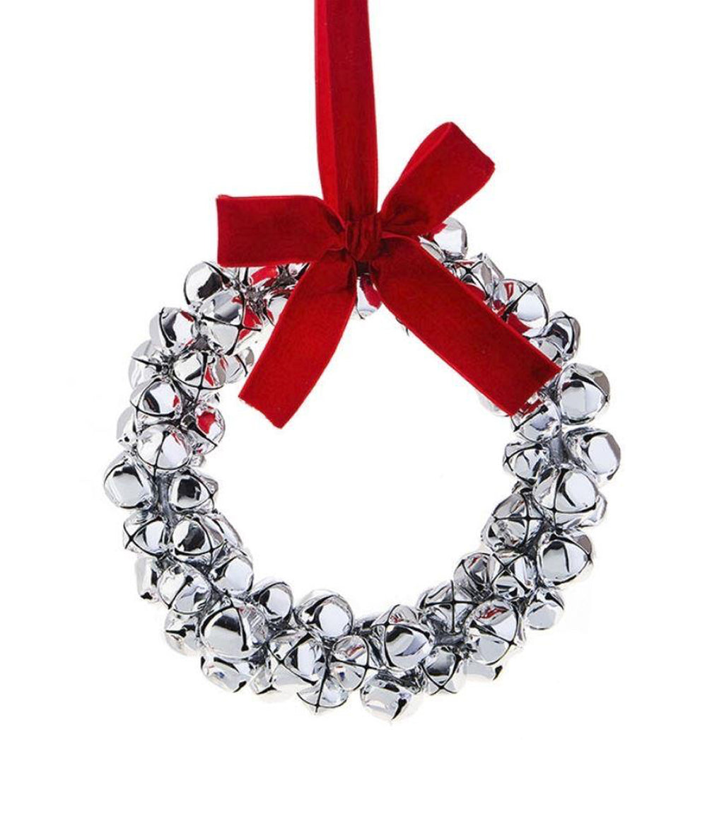 Bell Wreath Ornament 7.5""