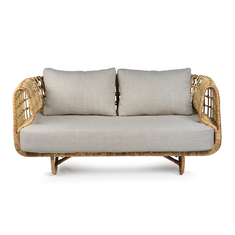 Adrina Rattan Sofa w/ Cushion