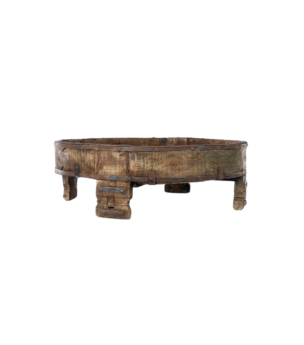 Carved Village Grinding Table