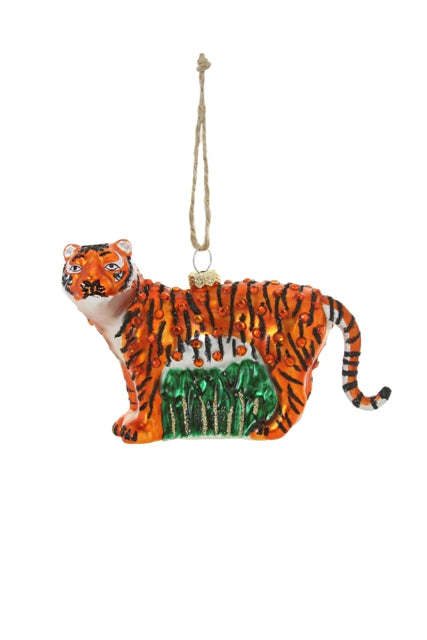 Jeweled Tiger Ornament