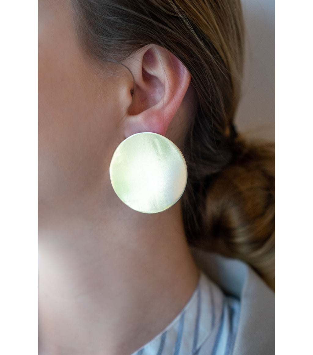Brass Solid Circle Earring