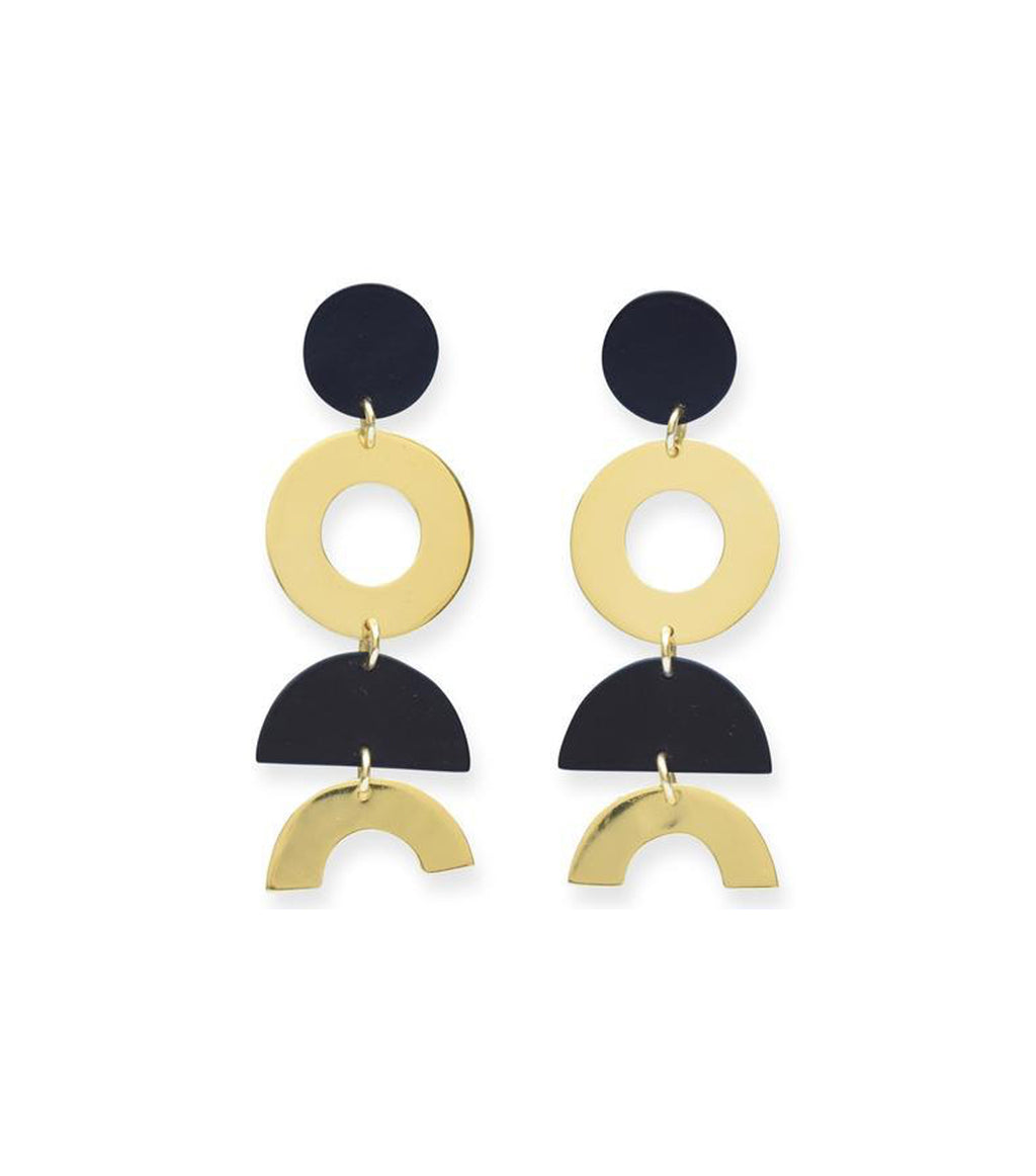 Dangle Half Circle Earring