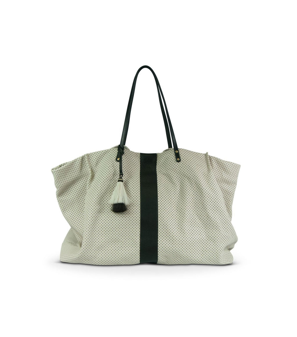 Chalk Perf Oversized Tote