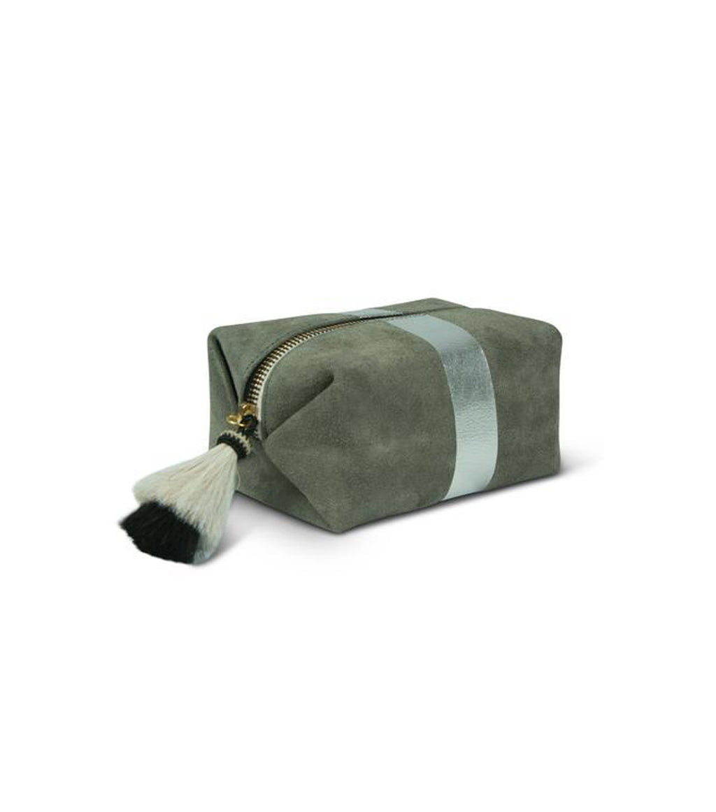 Storm Silver Suede Pouch