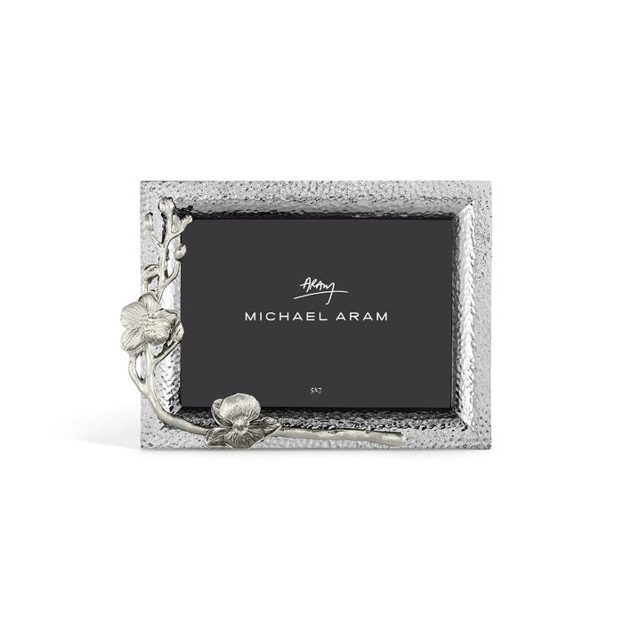 White Orchid Photo Frame 5x7