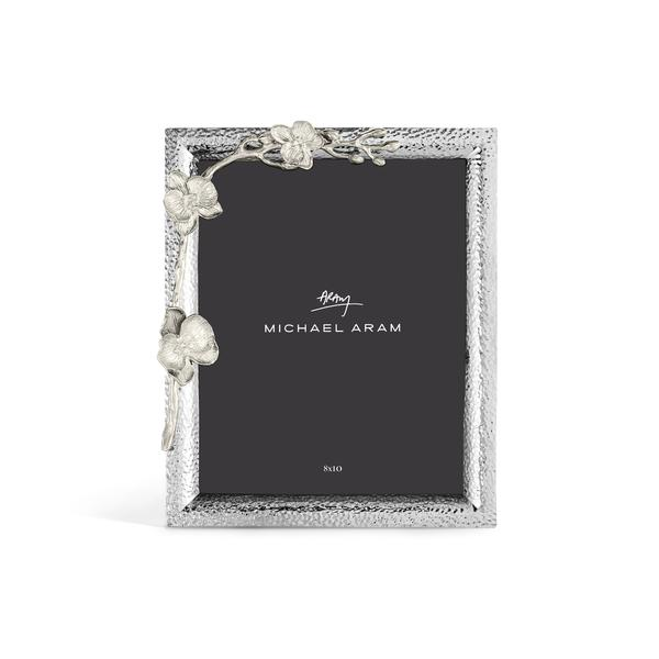 White Orchid Photo Frame 8x10