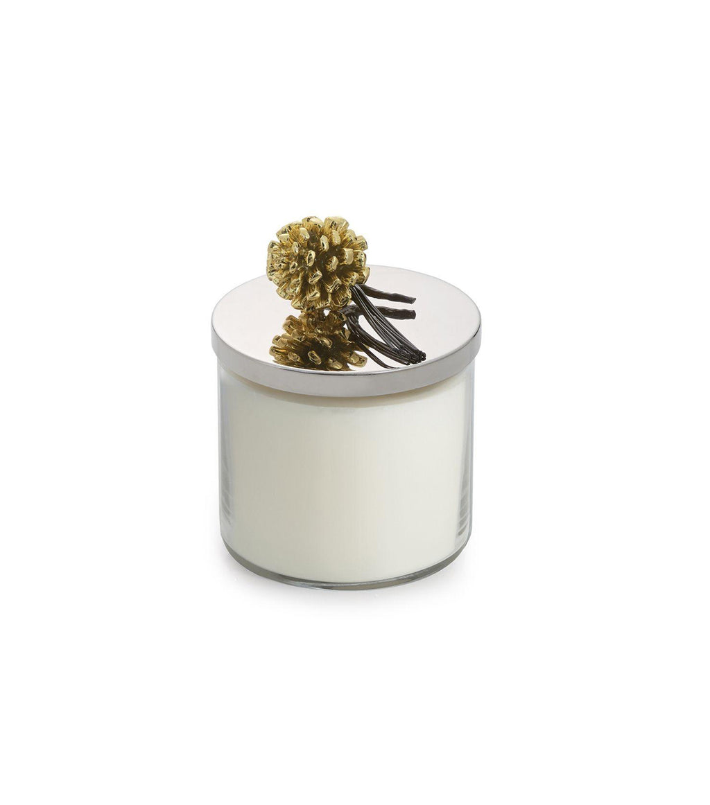 Pine Cone Gold Candle
