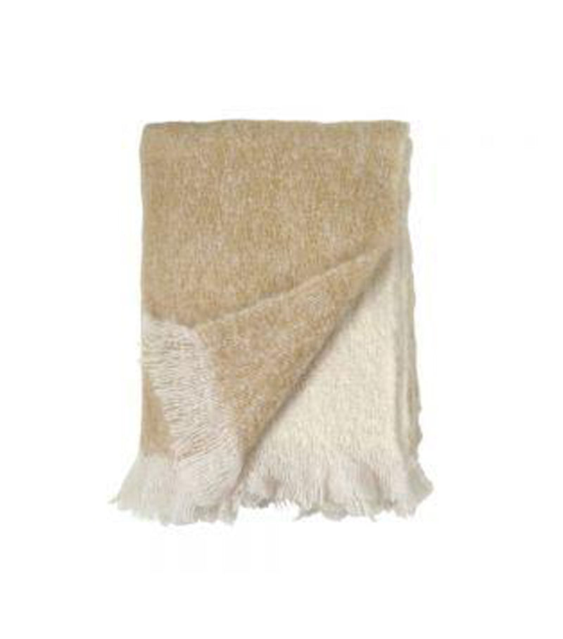 Dip Dye Mohair Throw