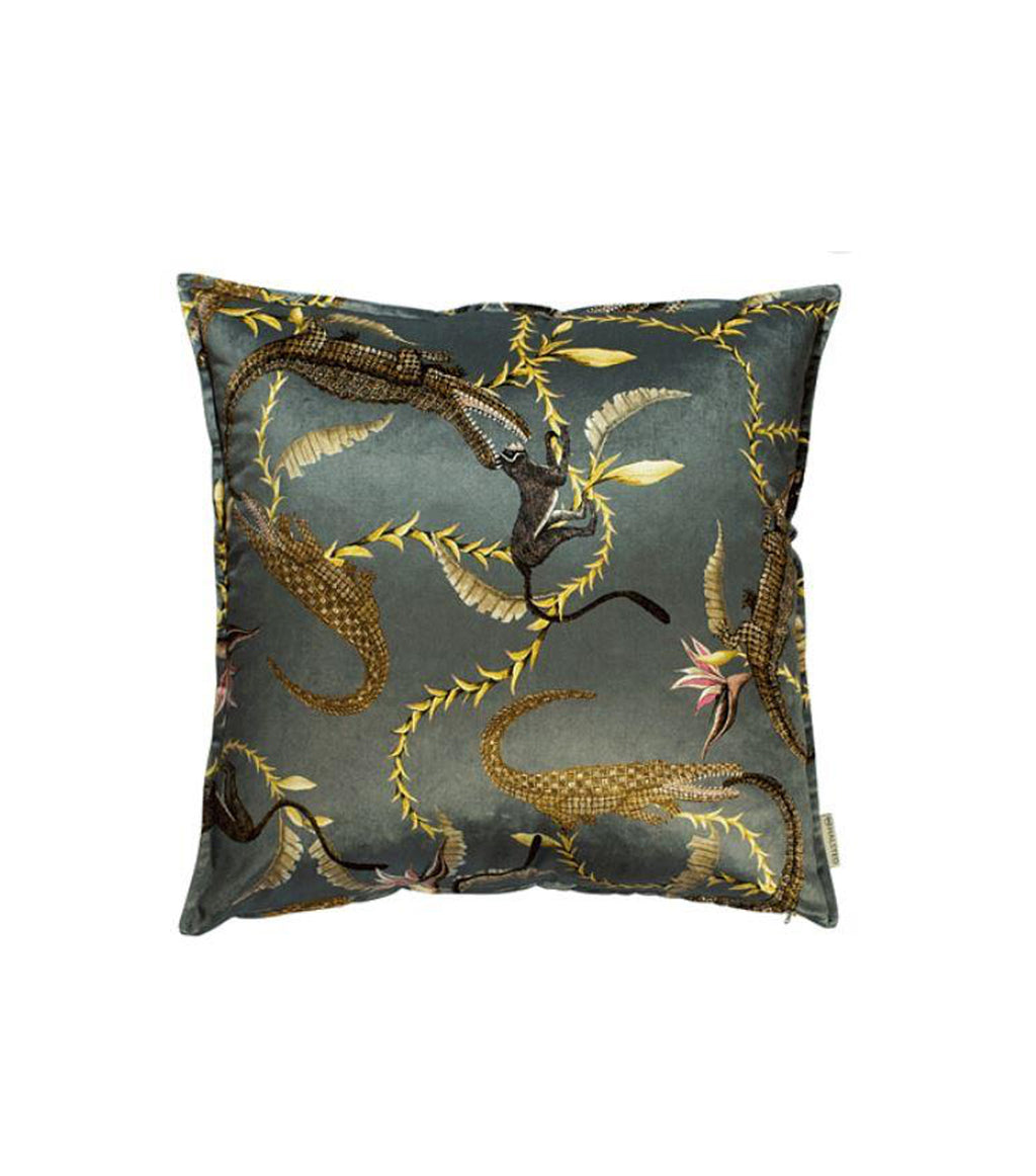 River Chase Velvet Pillow