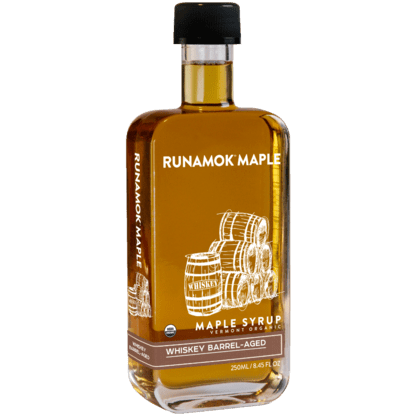 Whiskey Barrel-Aged Infused Maple Syrup