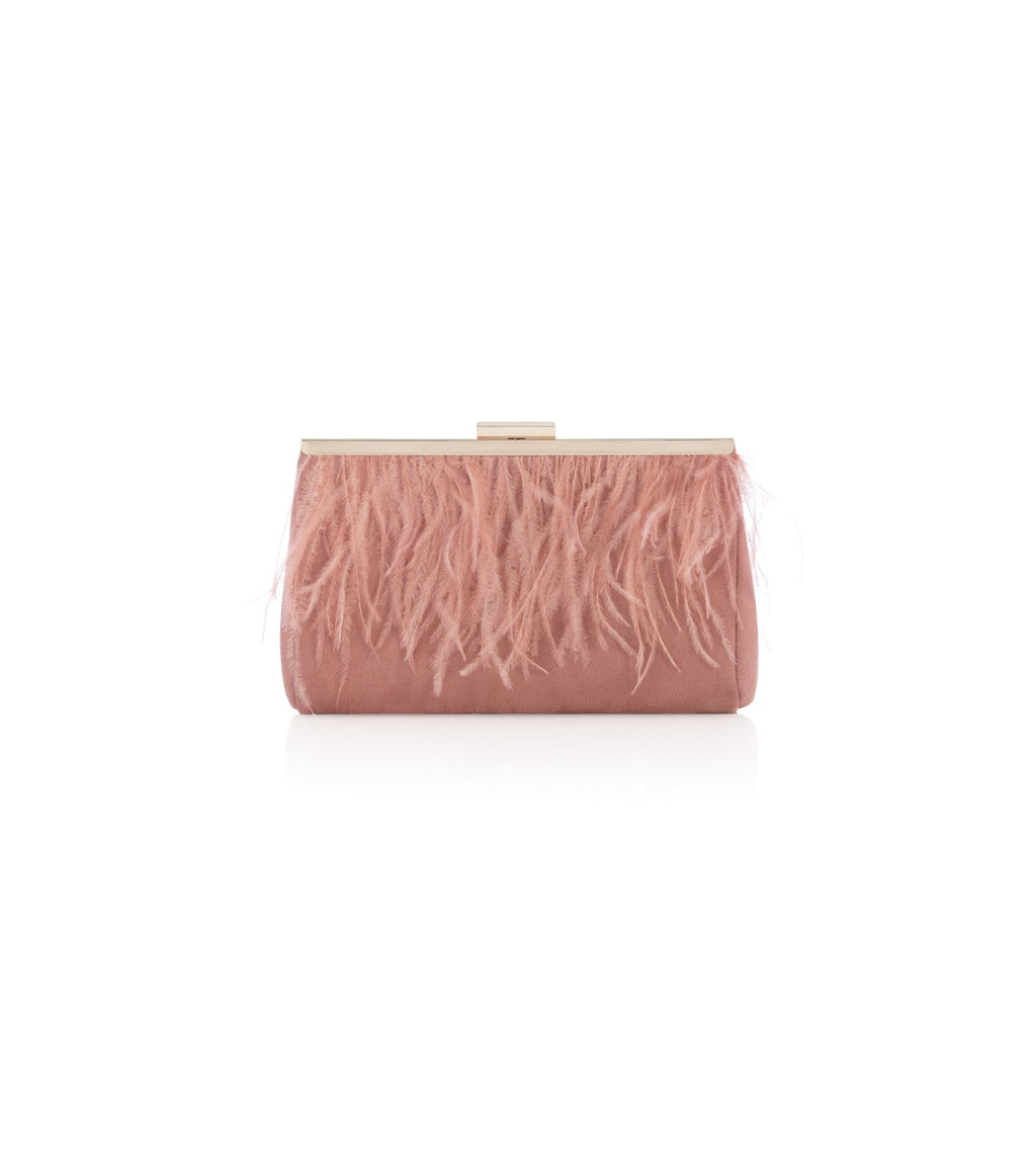 Ava Feather Clutch