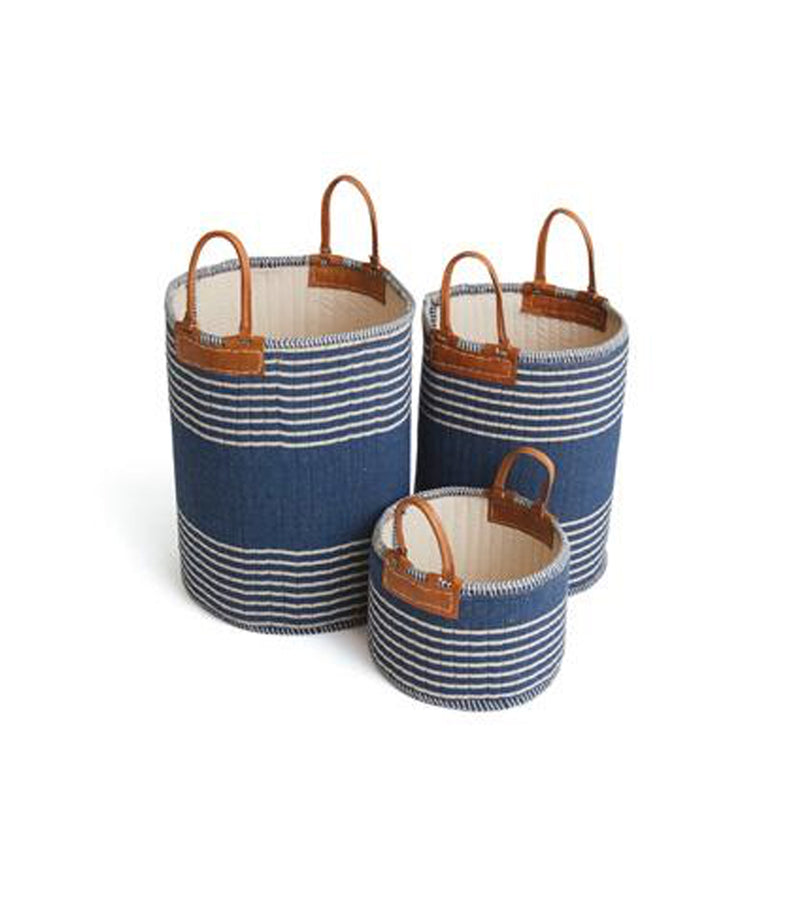 Iron Basket with Rope Handle