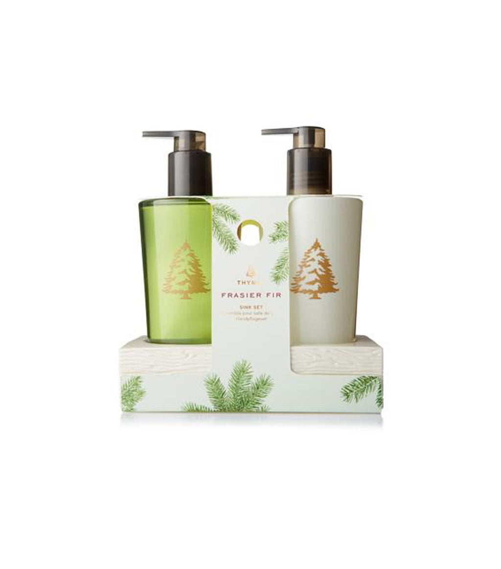 Frasier Fir Sink Set w/Ceramic Caddy