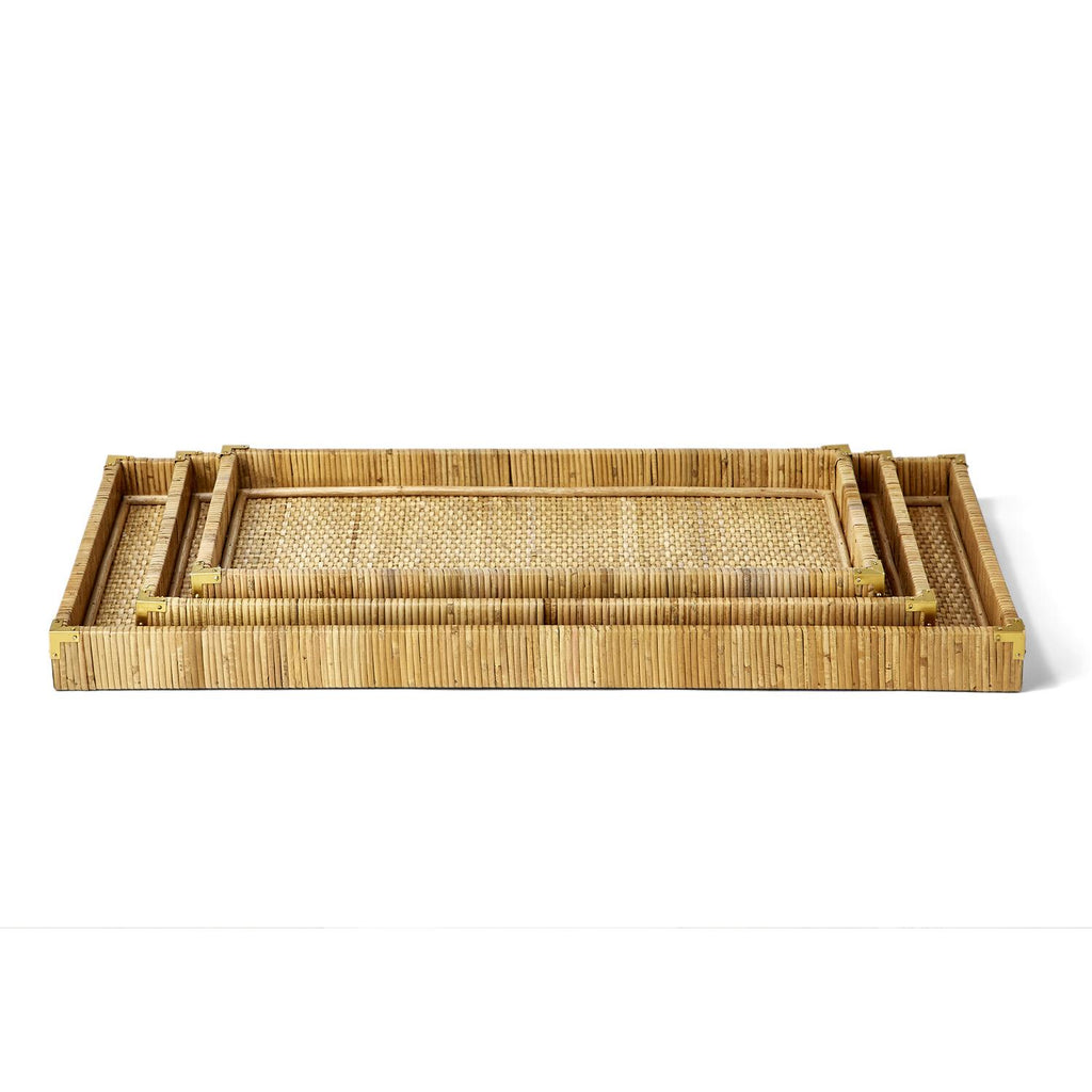 Dream Weaver Rattan Oversized Trays