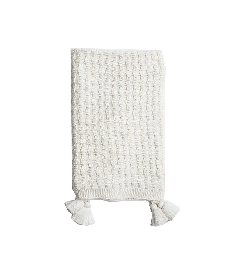 Organic Cotton Knit Throw