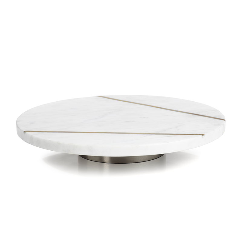Marble & Brass Lazy Susan