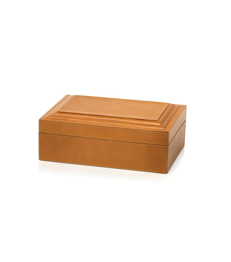 Tan Leather Box