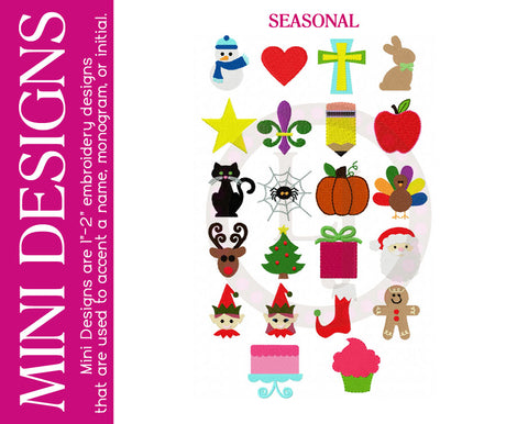 Personalization Options- Mini Designs- Seasonal