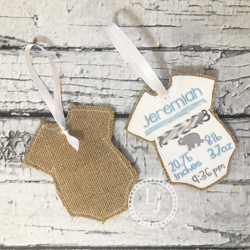 Custom Baby Birth Ornament