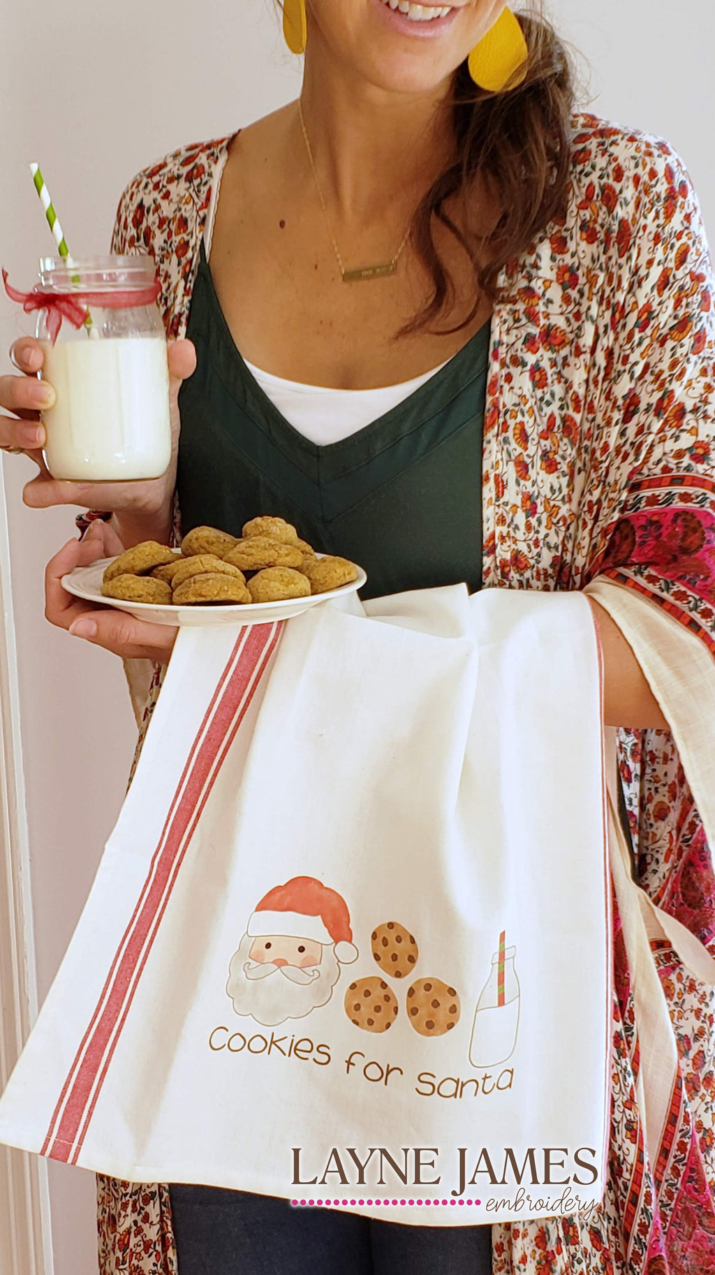 Cookies for Santa Towel