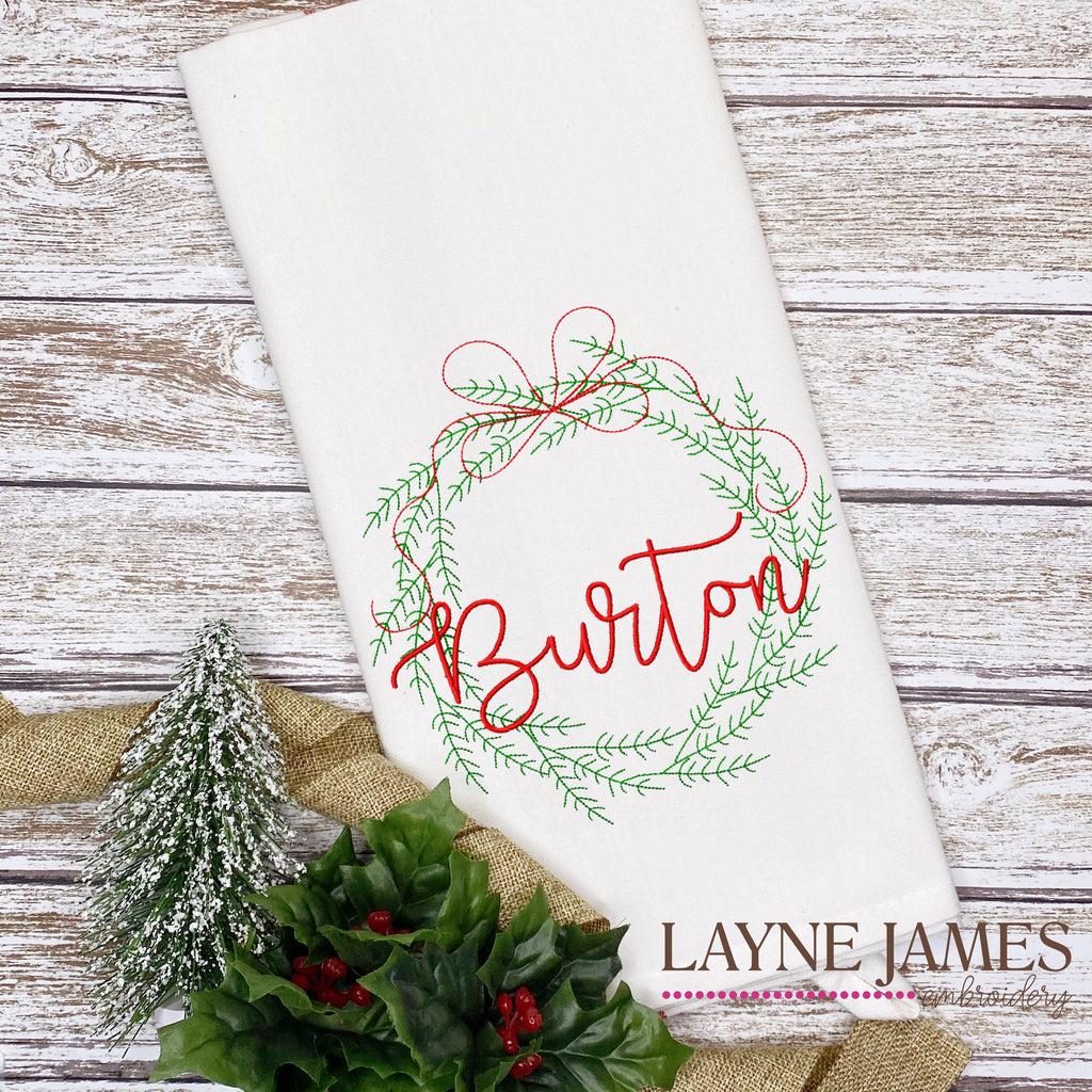 Embroidered Christmas Towel