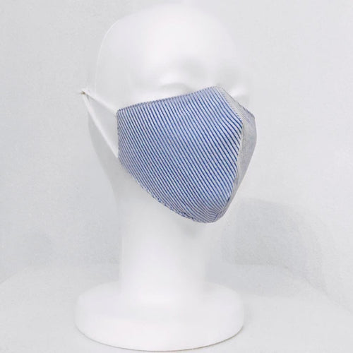 Keneea Linton Blue Pin-Striped Mask