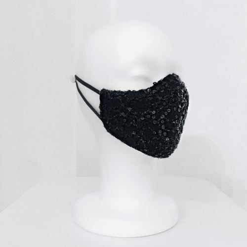 Keneea Linton Black Sequin/ Neoprene Mask