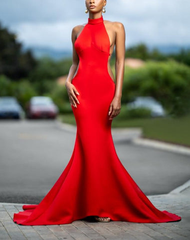Keneea Linton One Shoulder Fishtail Gown