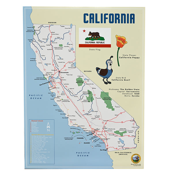 California Map Poster