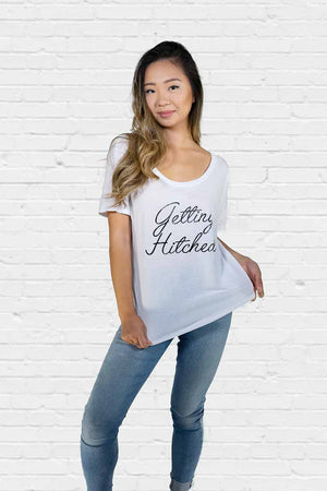 Getting Hitched Off the Shoulder Tee