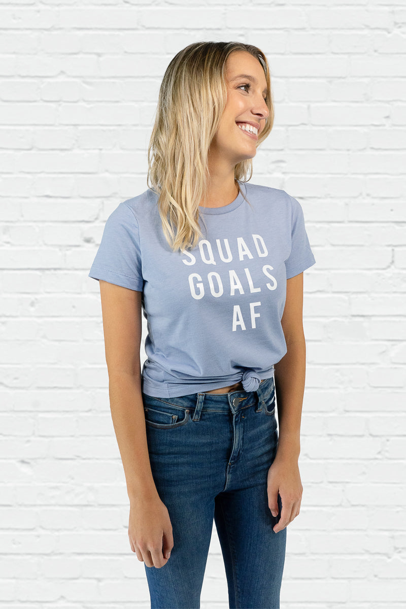 Squad Goals AF Fitted Tee