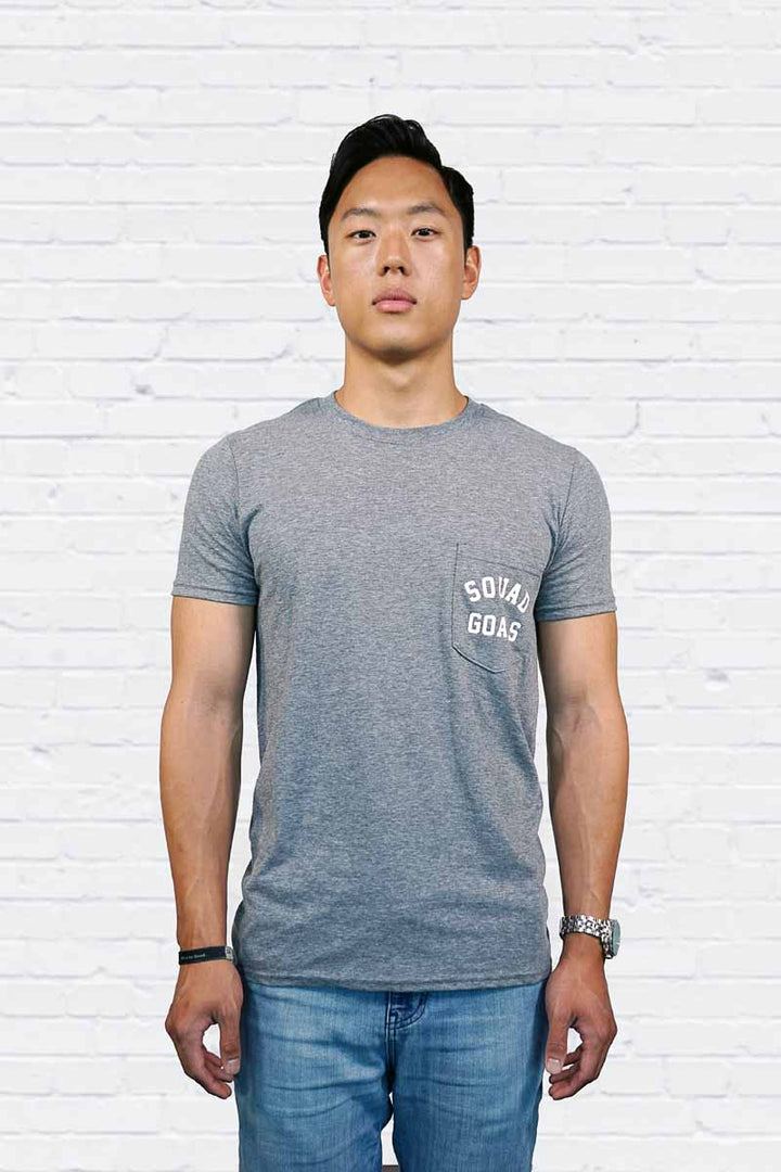 Squad Goals Groom Pocket Tee